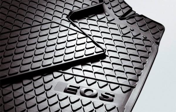 VW Eos Gummi Fußmatten vorn Original Gummimatten Allwettermatten
