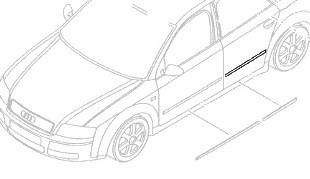 Türleiste, hinten (Audi A4 8E)