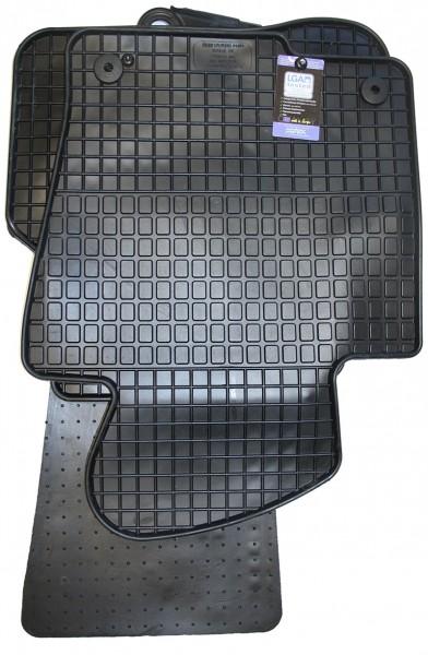 Gummifußmatten 4-teilig, schwarz, Komplettsatz, VW Passat 3C (B6, B7) und CC