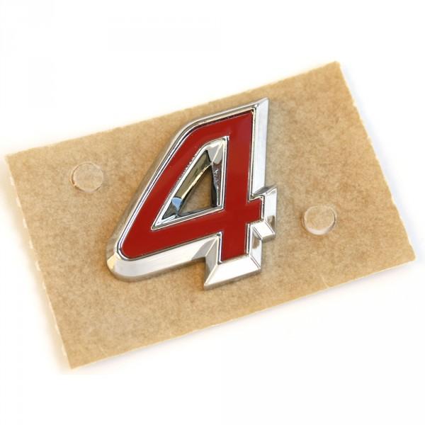 Original Seat 4 Schriftzug Logo Heckklappe Allrad chrom rot Zeichen Emblem