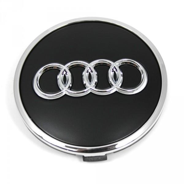 Original Audi Radzierkappe Nabenkappe Nabendeckel Felgendeckel schwarz matt 8W0601170B
