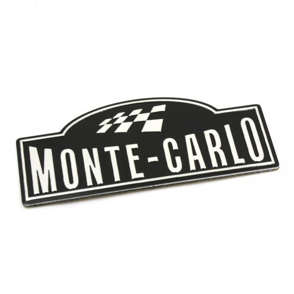 Original Skoda Fabia Rapid Monte Carlo Schriftzug seitlich B-Säule Plakette
