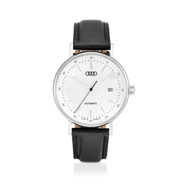 Original Audi Automatik Uhr Chronograph Armbanduhr Herren silber/schwarz 3101900300