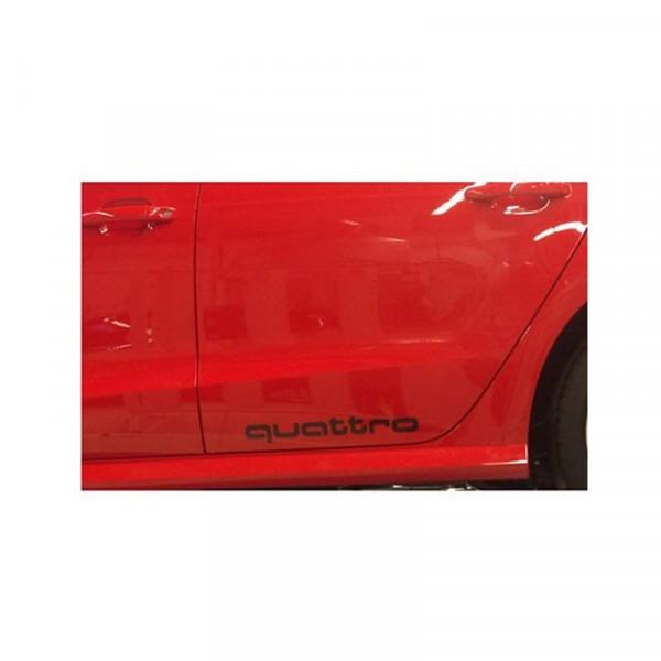 "Original Audi Dekorfolie ""quattro"" Audi S1 Schriftzug schwarz Folie 8X0064317QY9B"