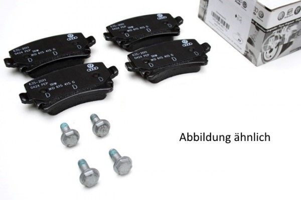 Bremsbeläge komplett Set Hinterachse Original VW Bremsklötze 5C0698451B (Jetta A6 Beetle 5C)