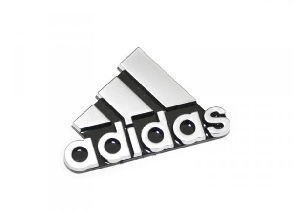 Schriftzug ADIDAS Emblem Original VW Golf Zeichen seitlich Chrom / Schwarz
