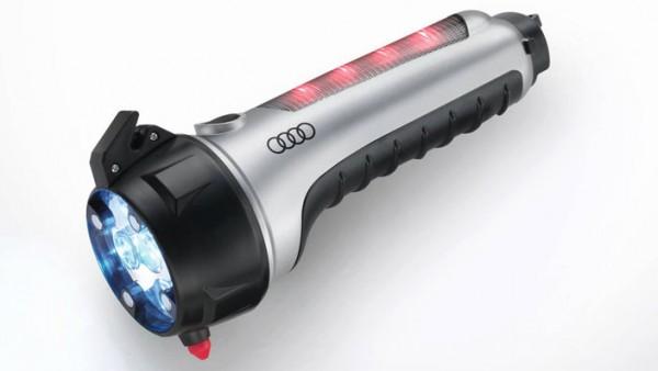 Audi Original Notfall-Werkzeug-Set Taschenlampe LED Gurtschneider Hammer Magnethalter