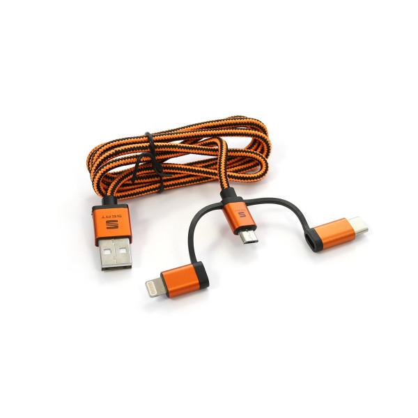 Original Seat 3-in-1 Kabel MFI Ladekabel USB Datenübertragung Stecker Accessoires Infotainment