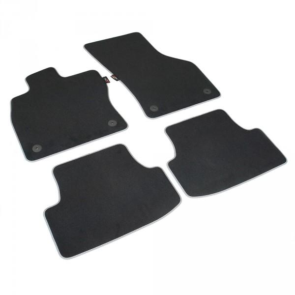 Original Seat Leon (5F) Cupra Textil Fußmatten Satz v+h Velours Matten schwarz