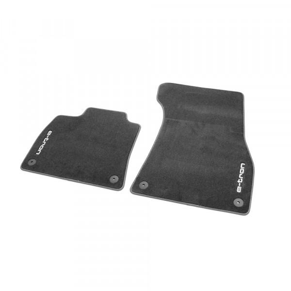 Original Audi e-tron Premium Textilfußmatten vorn Velours Matten schwarz
