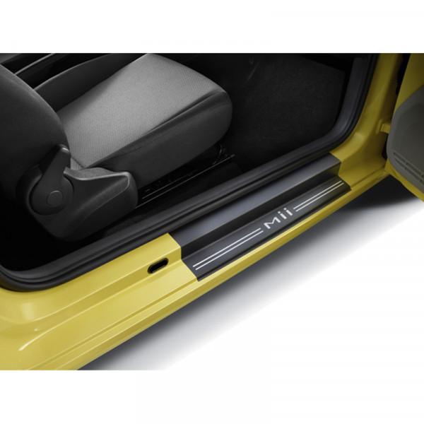 Original Seat Mii Einstiegsleiste vorn Dekorfolie Schutzfolie Türleisten Logo 1SL071310