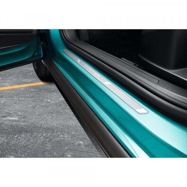 Original VW T-Cross Einstiegsleisten vorn Aluminium Dekor Zierleisten mit Schriftzug