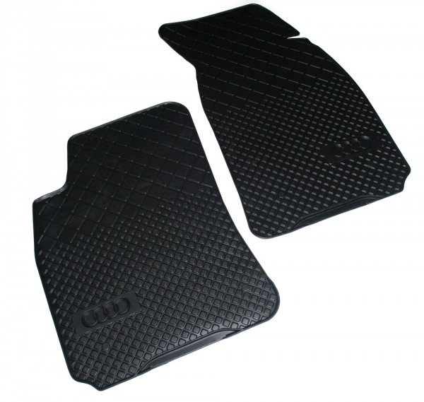 Gummi Fußmatten vorne Original Audi A4 8D B5 Matten Gummimatten Schwarz