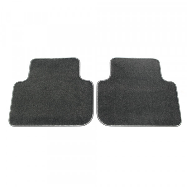 Original Audi Q3 (F3) Premium Textilfußmatten hinten Velours Matten schwarz