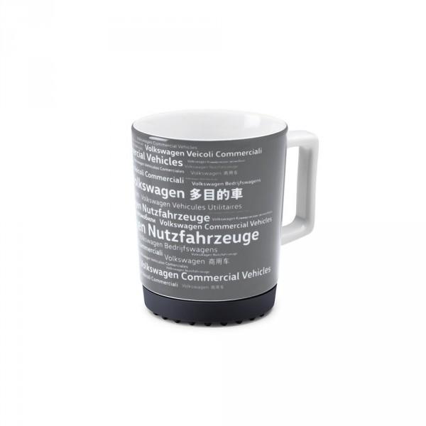Original Volkswagen Becher Kaffeebecher Porzellan Tasse grau