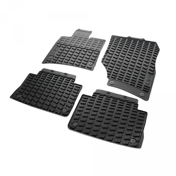 Gummi Fußmatten Original Audi Q7 (4L) Gummimatten Allwettermatten 4-teilig v+h schwarz