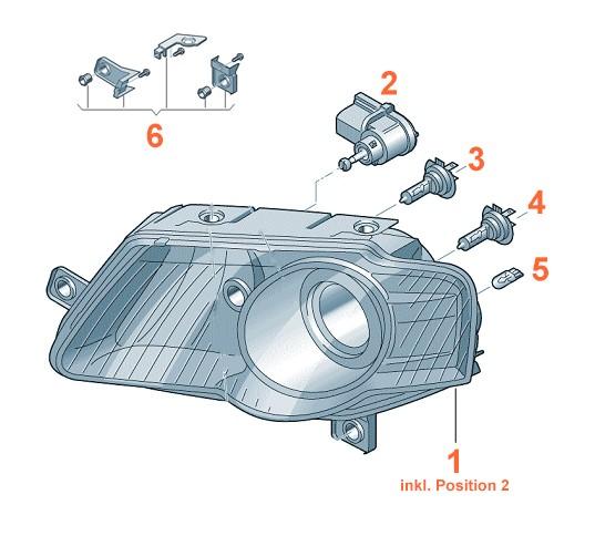 Scheinwerfer VW Passat 3C Original