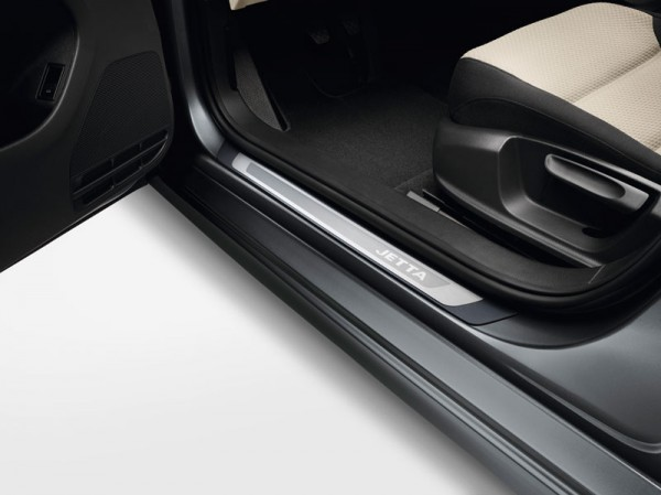 Einstiegsleiste Jetta A6 5C Original VW Edelstahl Tuning Zubehör 4-teilig Schutzfolie