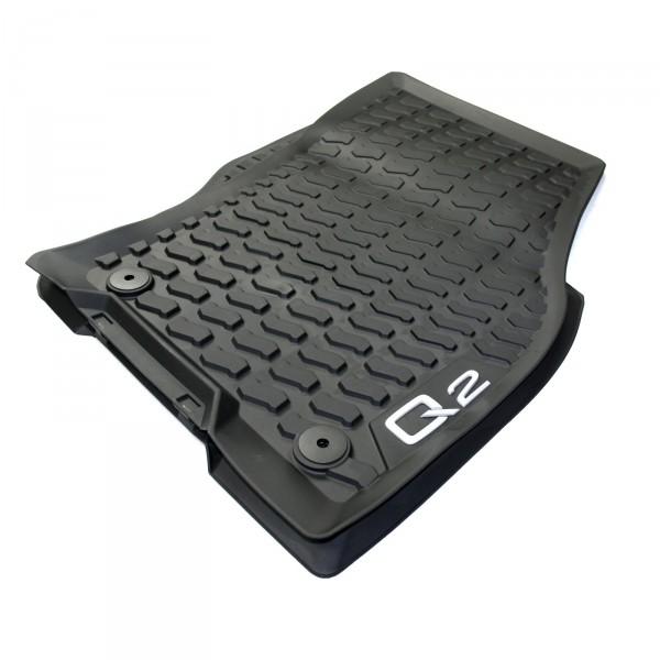 Gummi Fußmatten Allwettermatten Original Audi Q2 Gummimatten vorn 2-tlg schwarz