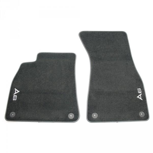 Original Audi A6 (C8 4A) Premium Textilfußmatten vorn Velours Matten schwarz