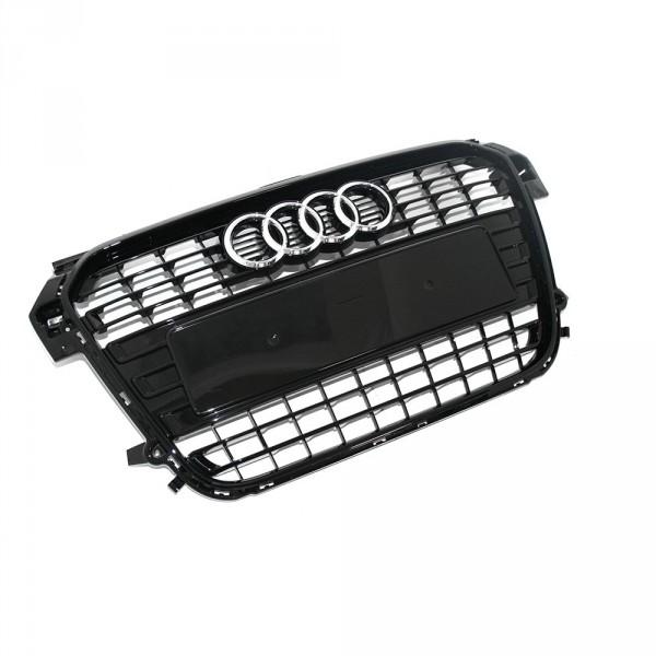 Kühlergrill Original Audi A1 8X schwarz glänzend Tuning Grill Aufnahmen Frontgrill Klavierlack