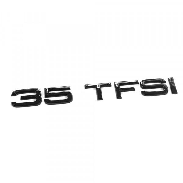 Original Audi 35 TFSI Schriftzug schwarz Tuning Exclusive Black Edition Heckklappe Emblem