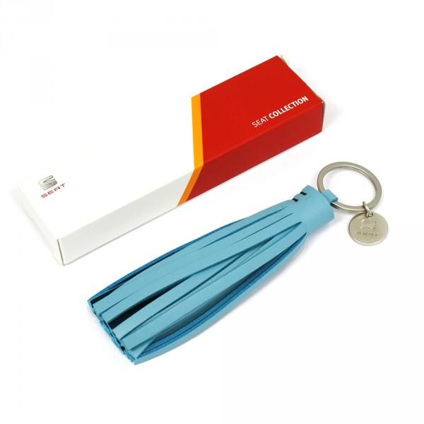 Schlüsselanhänger Quaste Original Seat Anhänger blau Accessoires Keyring