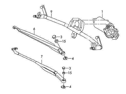 Scheibenwischeraufnahme Wischergestänge für Mercedes-Benz Sprinter VW Crafter
