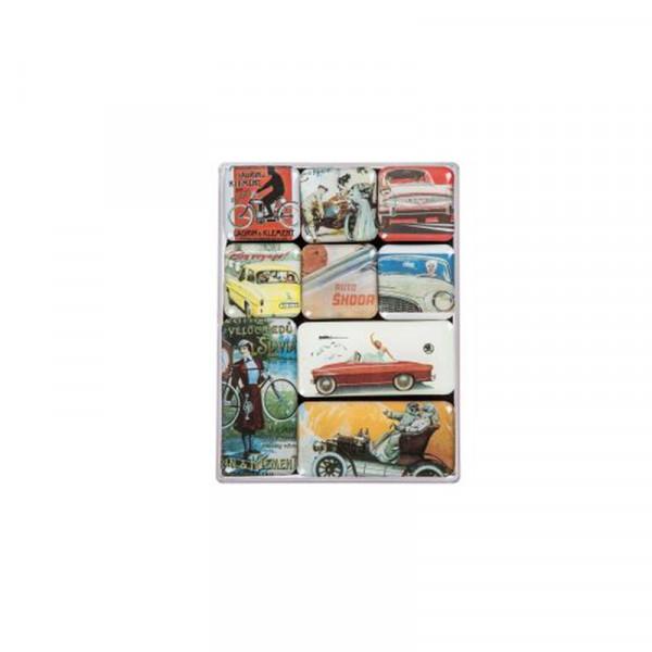 Original Skoda Magnet-Set Accessoires Lifestyle historische Fahrzeuge