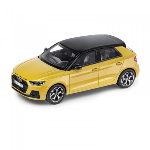 Original Audi Sport Modellauto 1:43 Miniatur A1 Sportback gelb Modell 5011801032