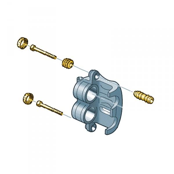 Reparatursatz Führungsbuchsen Bremse Vorderachse Original VW Crafter Scheibenbremse ab 2012
