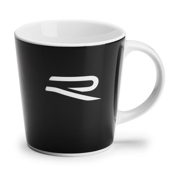 Original VW Becher R-Design Tasse Henkelbecher Kaffeetasse schwarz/weiß 5H6069601