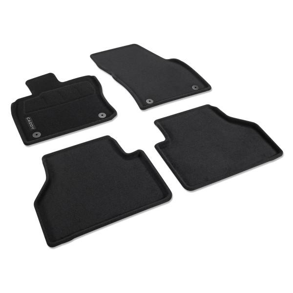 Original VW Caddy 5 Fußmatten Optimat Textilfußmatten 4x Stoffmatten schwarz 2K8061445WGK