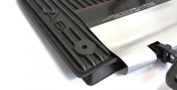 Audi A6 C7 4G Gummi Fußmatten Original 2-teilig vorn schwarz Gummimatten