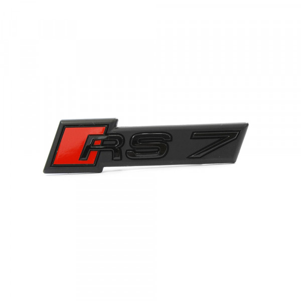 Original Audi RS7 (C8) Schriftzug Kühlergrill Tuning Emblem Exclusive Black Edition Logo