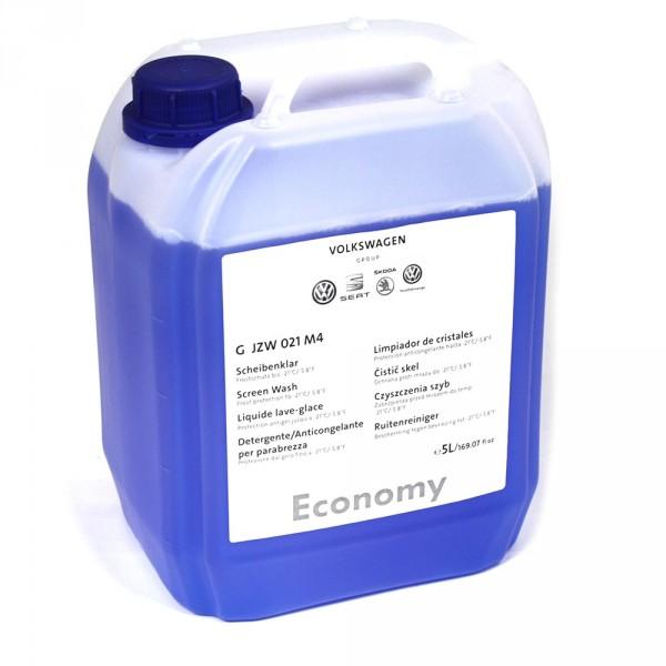 Scheibenreiniger Original VW ECONOMY Scheibenklar -21°C Reinigungsmittel Frostschutz 5 Liter