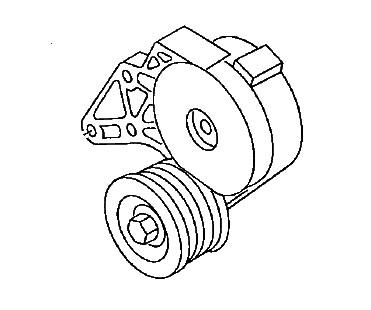 Riemenspanndämpfer Keilrippenriemen R32 / V6 (Golf IV)