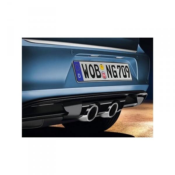 Heckschürze mit Diffusor (mit sichtbaren Doppelendrohr, mittig) Golf 7 5G Original VW Zubehör