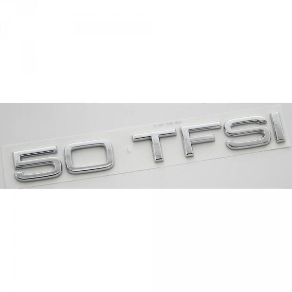 Original Audi 50 TFSI Schriftzug hinten Heckklappe Emblem Logo Zeichen chrom