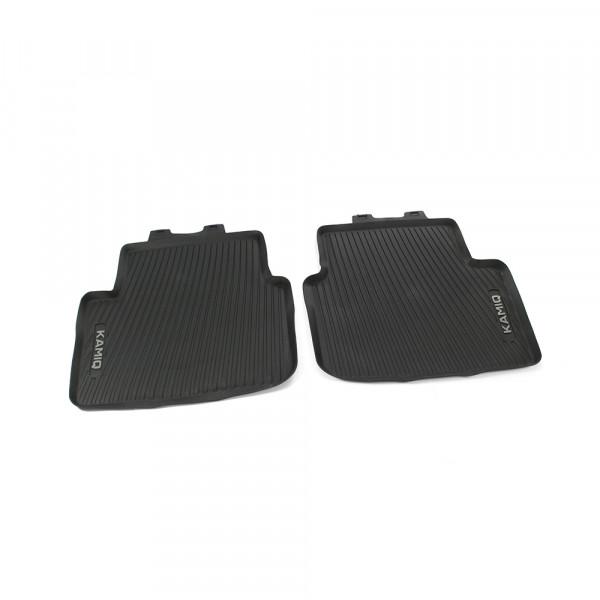 Original Skoda Kamiq Allwetterfußmatten hinten Gummi Fußmatten schwarz 658061512