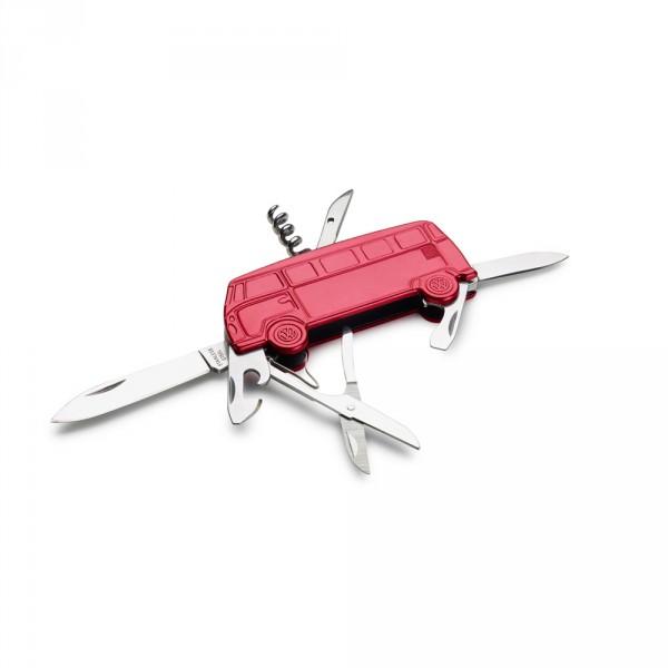 Taschenmesser Volkswagen Bulli T1 Lifestyle Multifunktions Messer rot Original VW