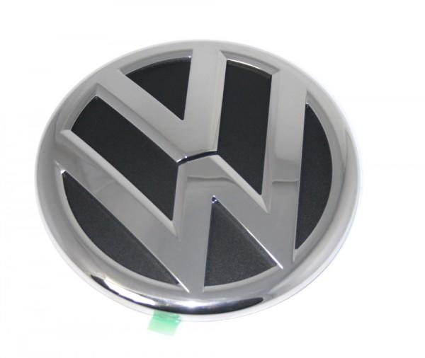 VW-Emblem für Heckklappe Original VW Touareg 7P Sharan Zeichen Chrom / Schwarz