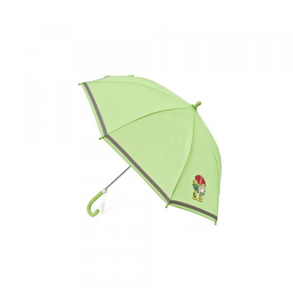 Original Skoda Kinderschirm Eddy & Paul Regenschirm Schirm grün