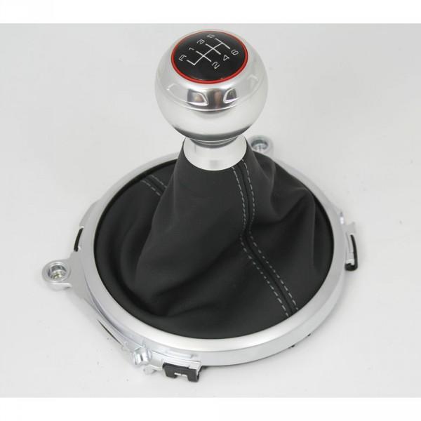 Schalthebelverkleidung Original Audi TT TTS (8J) 6-Gang Leder Schaltknauf schwarz
