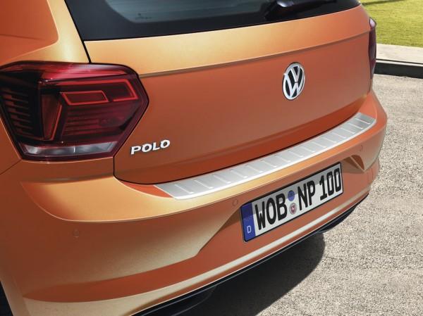 Ladekantenschutz Edelstahloptik gebürstet Original VW Polo Kantenschutz Kofferraum Stoßfänger