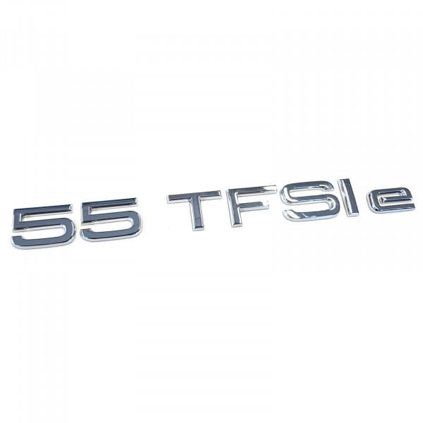 Original Audi Schriftzug 55 TFSIe Emblem Logo Aufkleber chrom glänzend