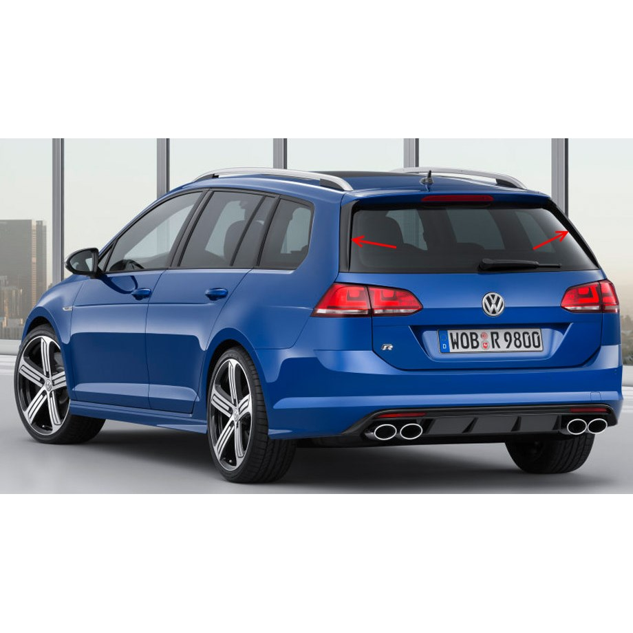 vw golf 7 r variant vertikal spoiler set heckklappe. Black Bedroom Furniture Sets. Home Design Ideas
