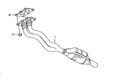 Hosenrohr Katalysator (Golf IV 1.6) Original VW Auspuffanlage Abgasrohr