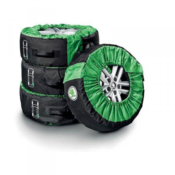 Original Skoda Reifentasche für Kompletträder bis 18 Zoll Schutztasche Reifen Räder Lagerung