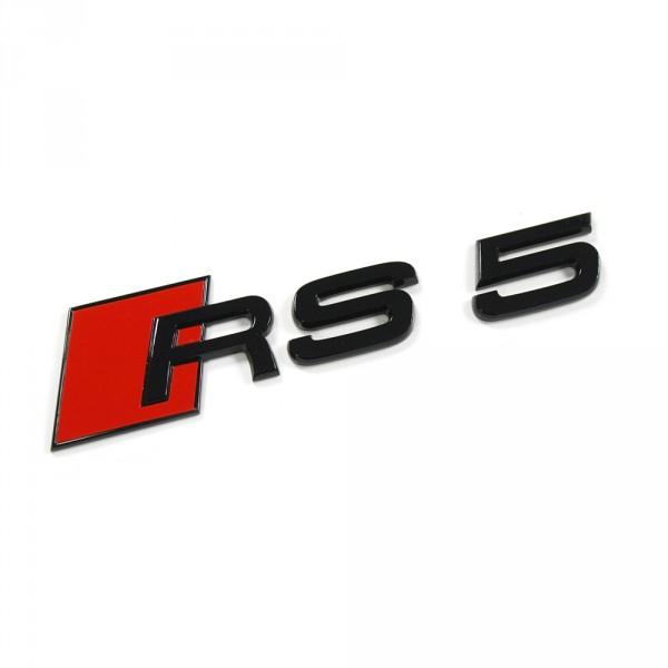 Original Audi RS5 Schriftzug Tuning Emblem Exclusive Black Edition Logo